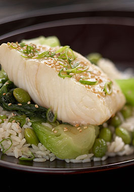 Rice Recipe Feature: Asian-Style Halibut Dinner Packets