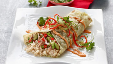 BBQ Duck Brown Rice Asian Burrito