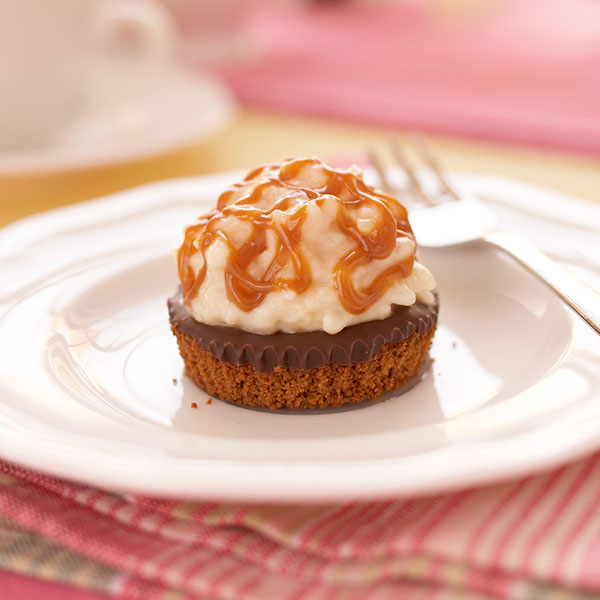 Caramel Chocolate Rice Pudding Tarts