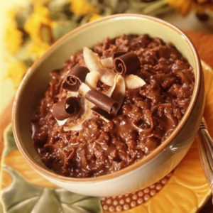 Chocolate Macaroon Rice Pudding