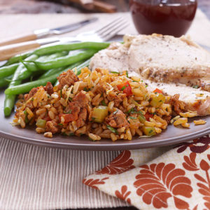 Chorizo, Pepper and Rice Stuffing