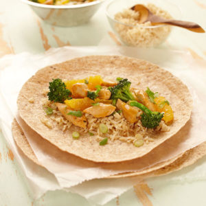 Citrus Chicken Stir Fry Wraps