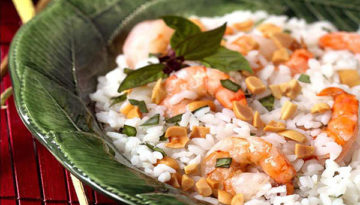 Coconut Rice Shrimp Salad