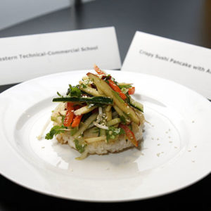 Crispy Sushi Pancake with Asian-Style Salad by: Western Tech