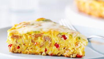 Spanish Chorizo and Rice Frittata