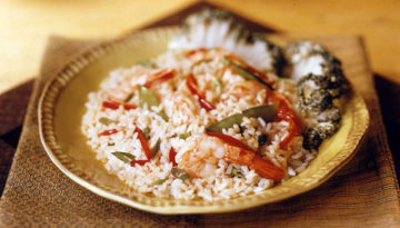 Gingered Rice Shrimp Salad