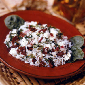 Greek Garden Rice Salad