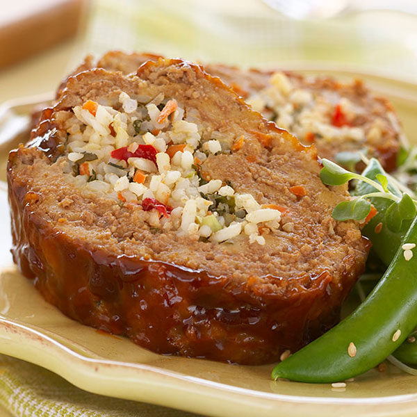 Hoisin Beef and Rice Roulade