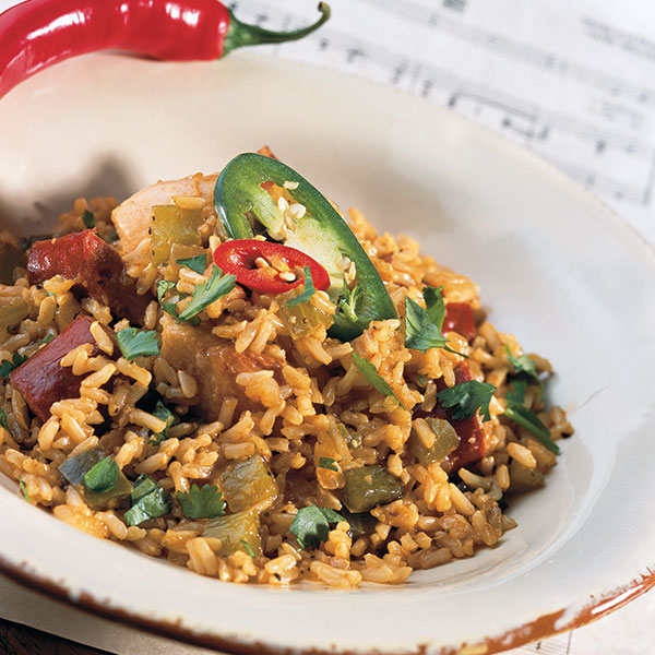 Hale and Hearty Brown Rice Jambalaya