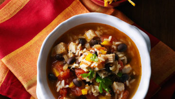 Leftover Turkey and Rice Tortilla Soup