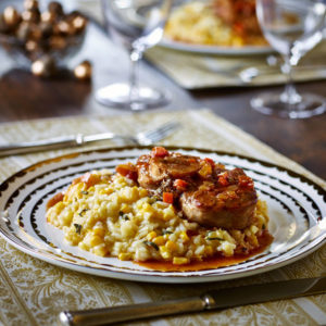 Osso Bucco with Sweet Corn and Leek Risotto