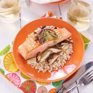 Rice and Salmon Packets