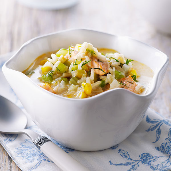 Salmon and Rice Chowder