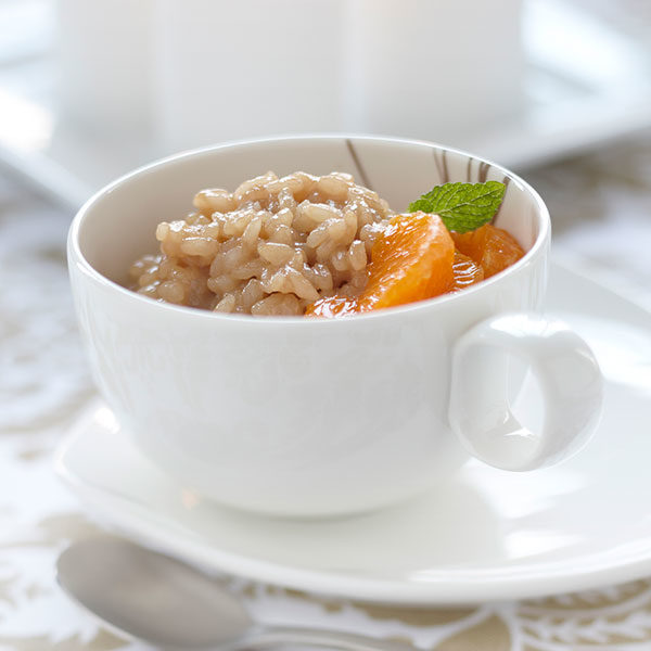 Clementine and Tea Scented Rice Pudding
