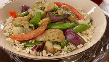 Thai Green Chicken Curry with Coconut Rice