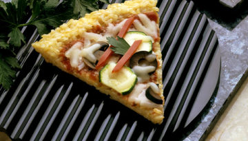 Vegetable Rice Pizza