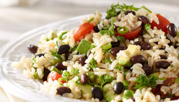 Brown Rice, Black Bean and Avocado Pilaf