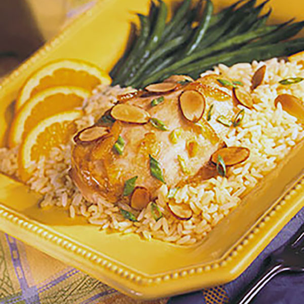 Chicken and Rice à l'Orange