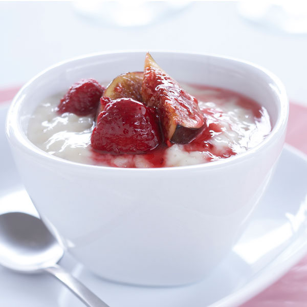 Dairy-less Fig and Raspberry Rice Pudding