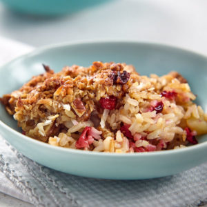 Cranberry Pear Rice Crisp