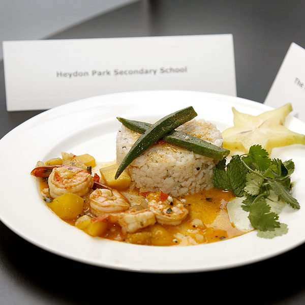 The Rain Forest Spicy Garlic Shrimp with Coconut Rice by: Heydon Park SS