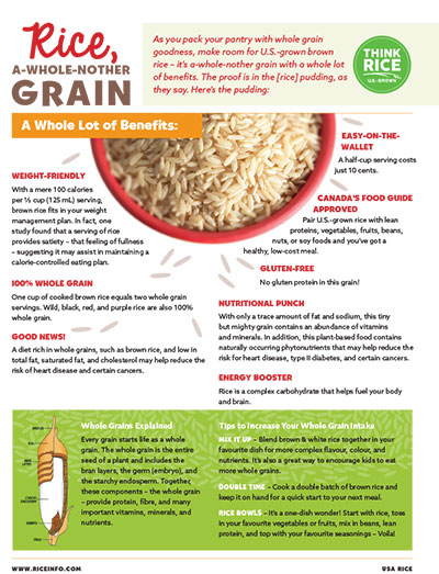 A whole nother grain fact sheet