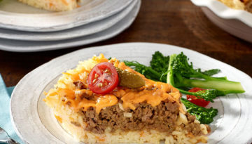 Cheeseburger Rice Pie