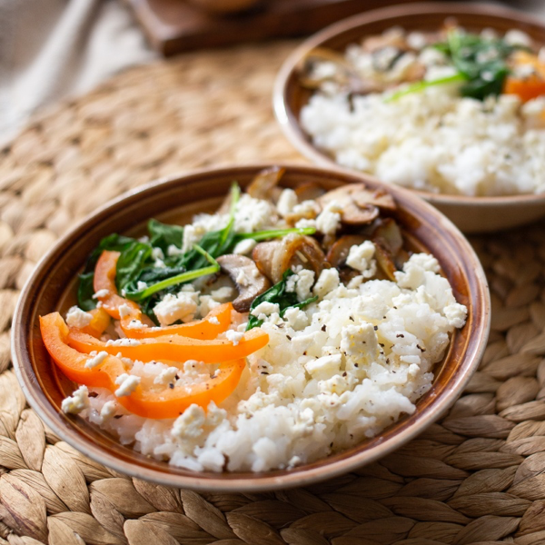 Spinach Feta Rice
