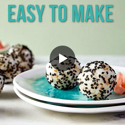 Easy to make sushi rice poppers