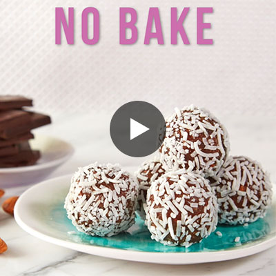 No-Bake Chocolate Date and Rice Truffles