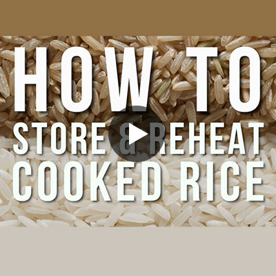 How to store and reheat cooked rice
