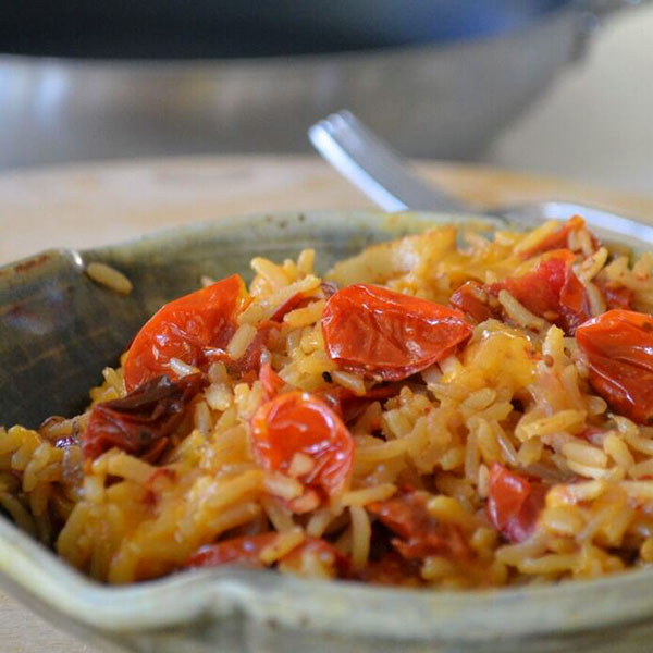 Roasted Tomato and Double Smoked Bacon Rice Dish