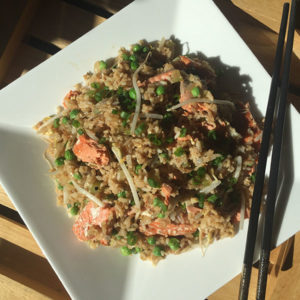 Fresh Wild BC Salmon Fried Rice