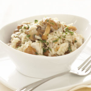 Golden Newfoundland Chanterelle and Smoked Grouse Risotto