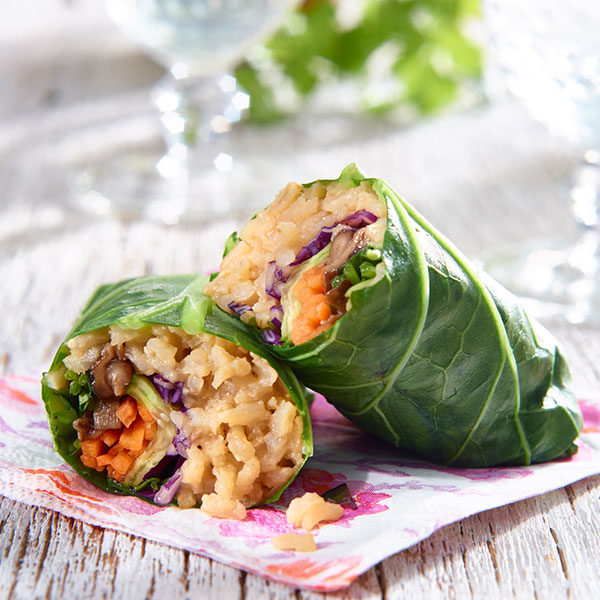 Miso Collard Wraps