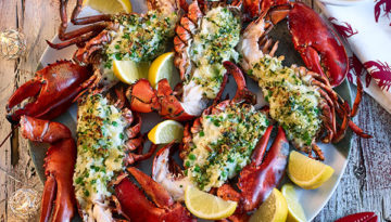BBQ Lobster Stuffed with Rice