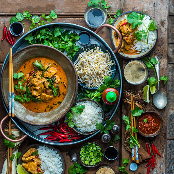 Thai Red Curry with U.S.-Grown Jasmine Rice
