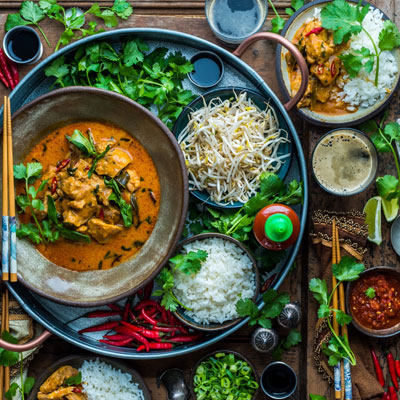 Thai Red Curry with US-Grown Jasmine Rice