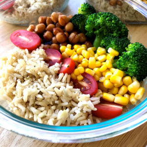 Brown Rice BBQ Chickpea Bowl