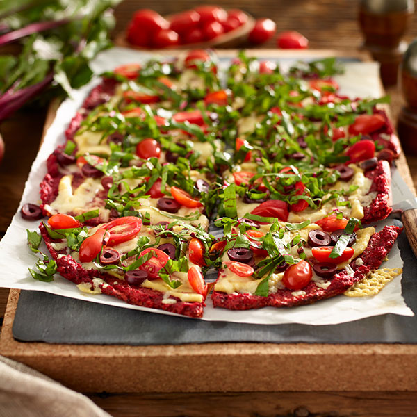 Beet and Rice Flatbread