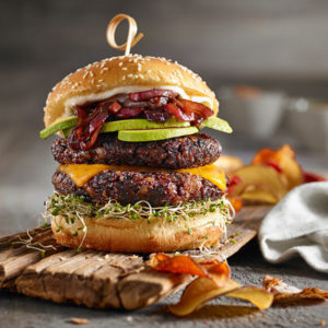 Black Rice Halloumi Burger