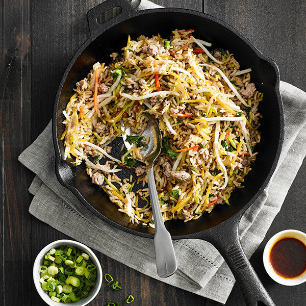 Deconstructed Egg Roll and Rice Skillet Supper