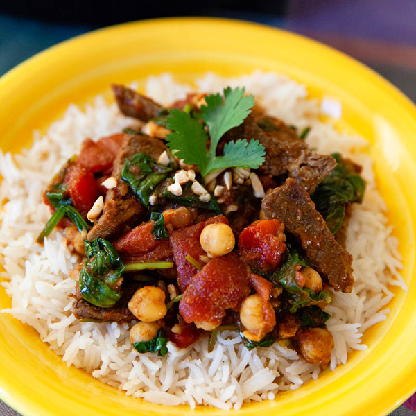Chickpea Beef Curry and Rice