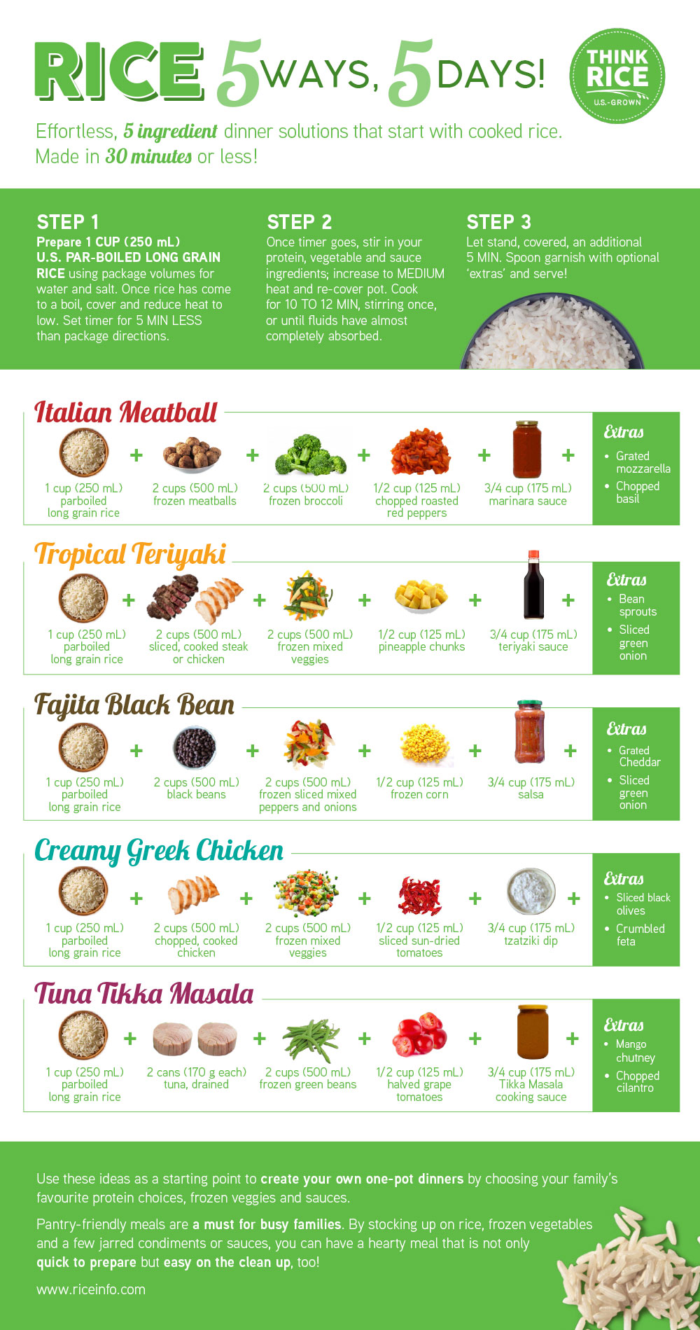 Rice 5Ways 5Days Infographic