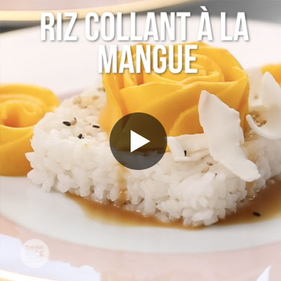Riz collant à la mangue