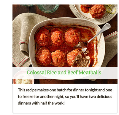 Rice and Beef Meatballs