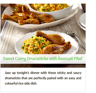 Sweet Curry Drumsticks