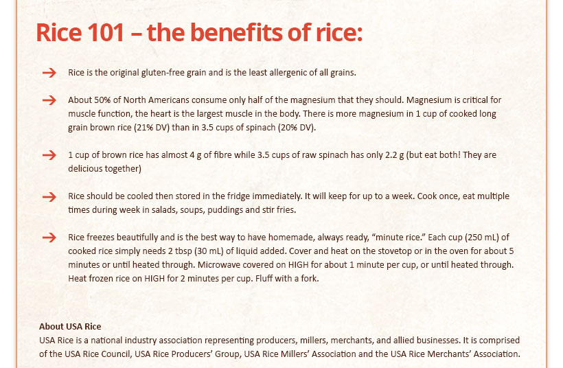 Rice 101 - The Benefits of Rice