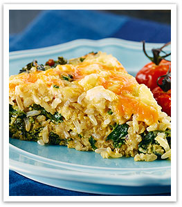 Two-Cheese Chili Kale and Rice Frittata